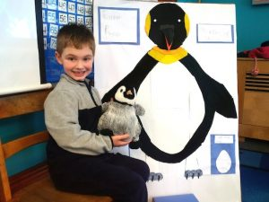 boy with Penguin ART project
