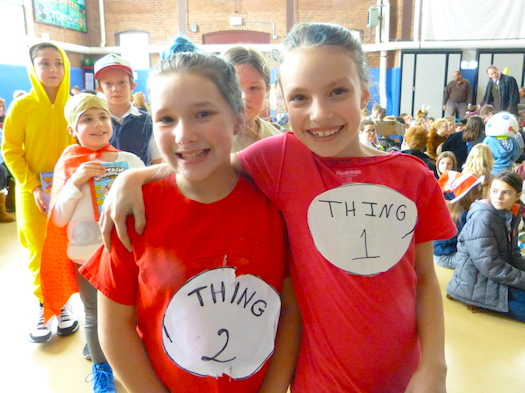 Thing 1 and Thing 2 girls