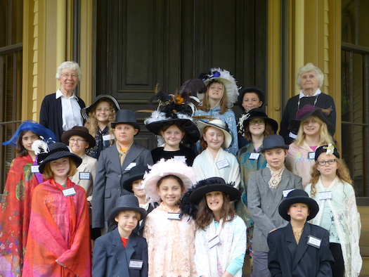 Village School Kids dressed up at Park McCullough House