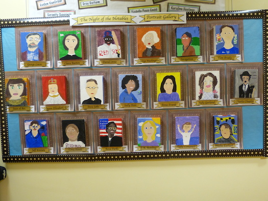 art depicting selected notable figures