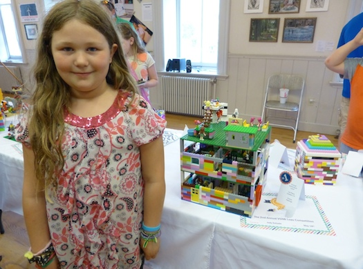 child with lego project