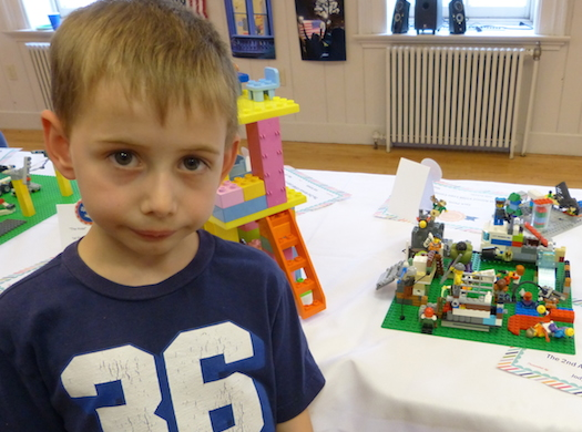 boy with lego project