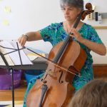 Perri Morris with Cello