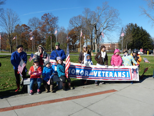 Veterans Day banner parade