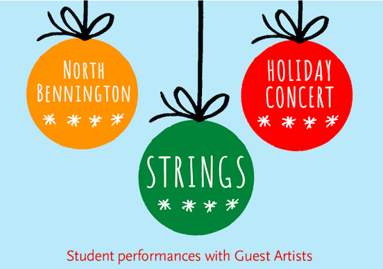 North Bennington Strings Program Concert on Tues., Dec. 11 at 6:30 p.m.