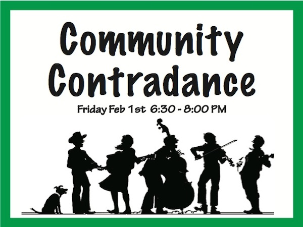 Community Contradance – Friday, Feb. 1st from 6:30-8 p.m.