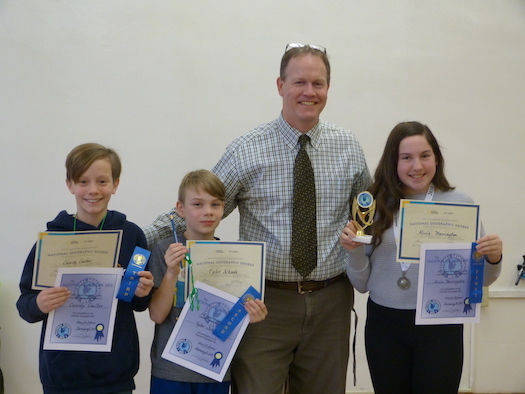 Congratulations to the 2019 Geography Bee Winners!