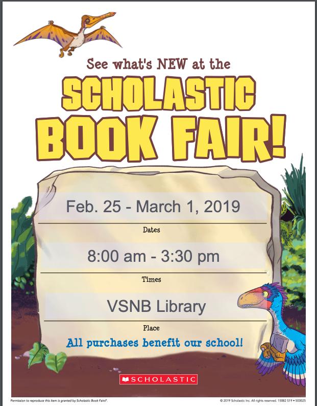 scholastic book fair poster 2019