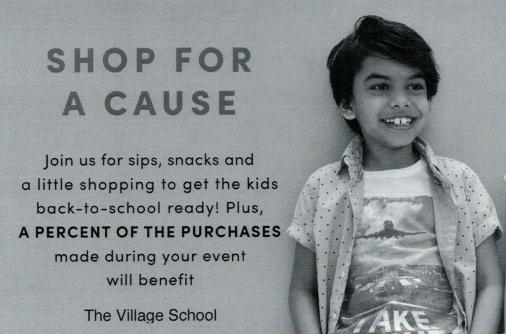 J. Crew Fundraiser for Village School